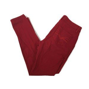 ND New Directions Weekend Skinny Red Jeans